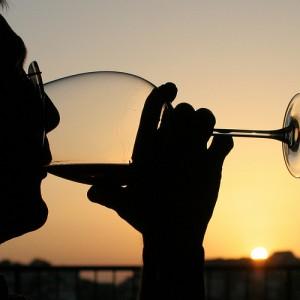 Vino Rioja al atardecer
