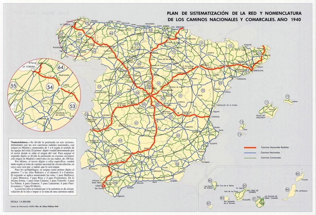 Carreteras_Nomenclatura_Plan_1939